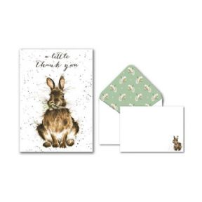 Wrendale Rabbit Pack of 8 Thank You Cards